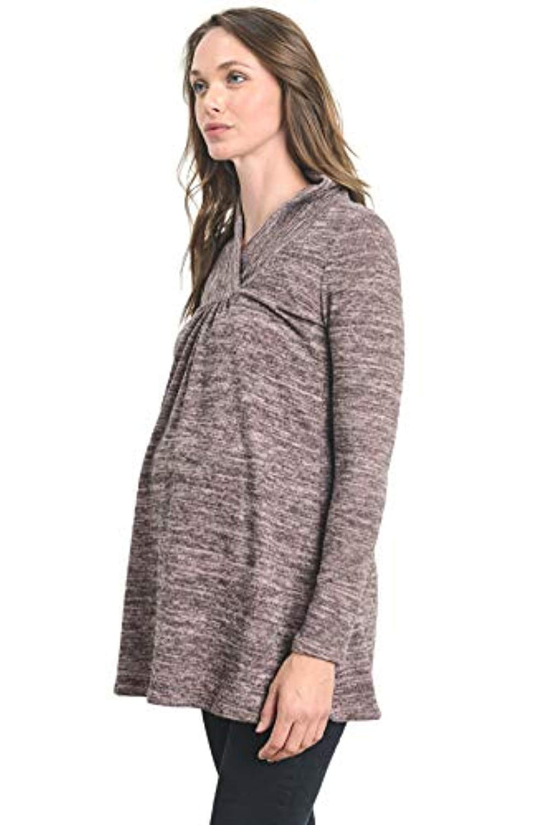 Dusty Rose Maternity Tunic Top - Mommylicious