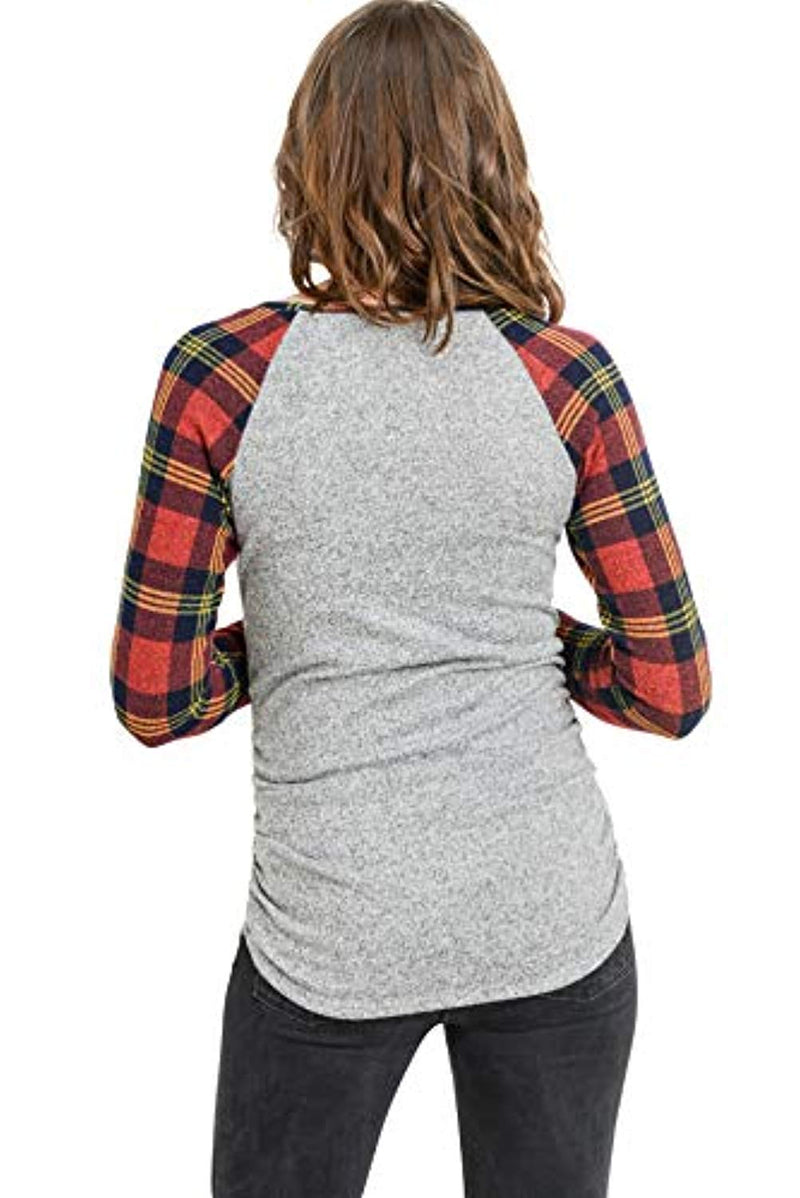 Buffalo Raglan Maternity Top - Mommylicious
