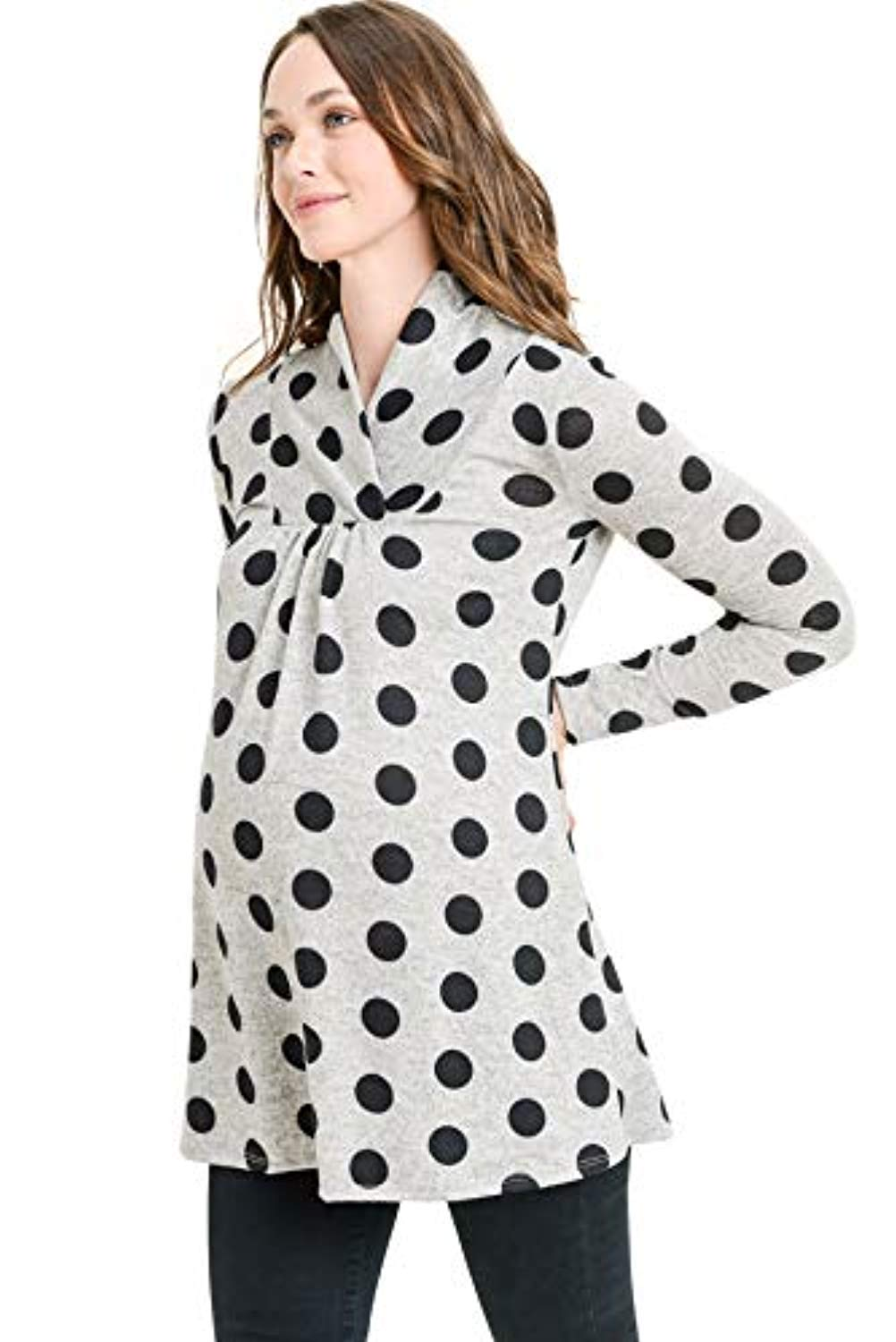 long sleeve maternity tunic top