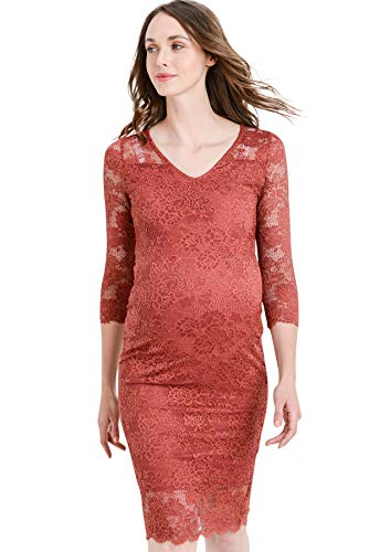 Floral Lace Knee Length Bodycon Dress - Mommylicious