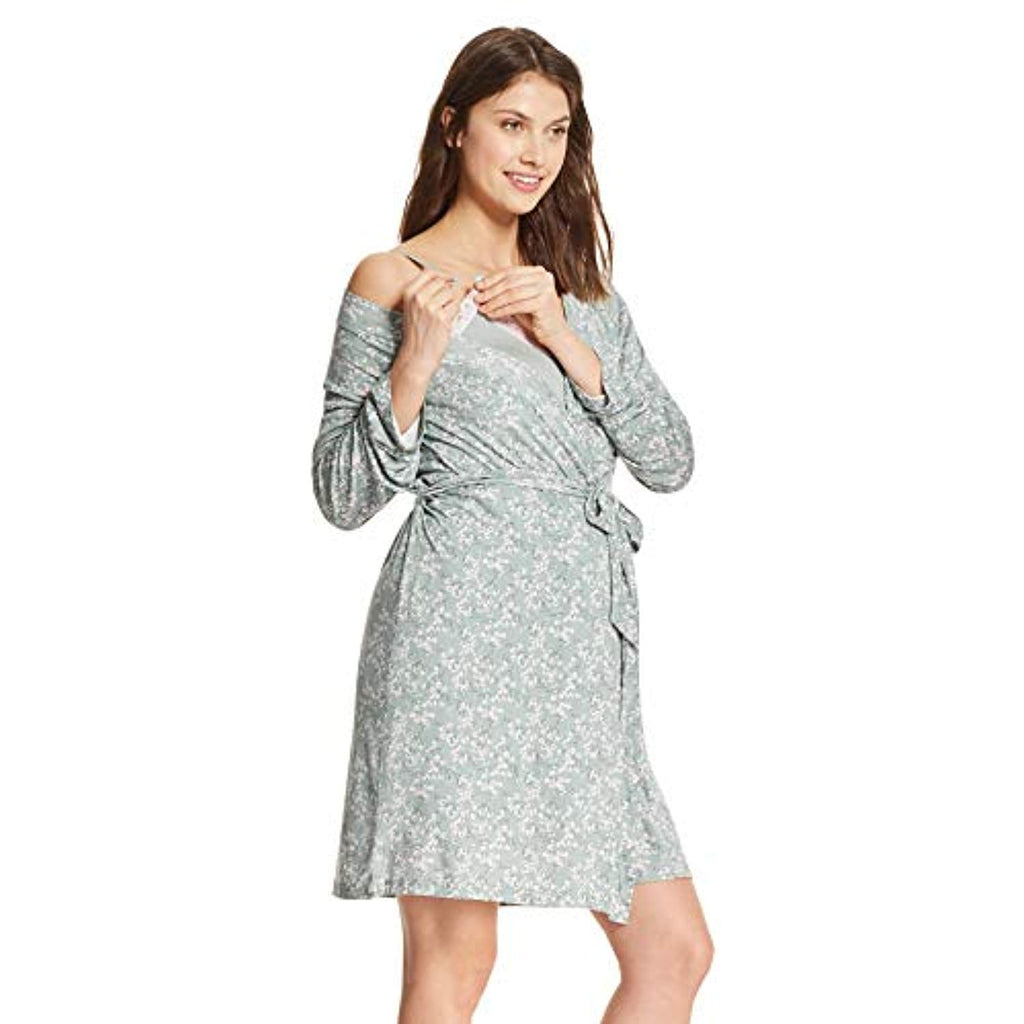 nursing nightgown and robe sets side view
