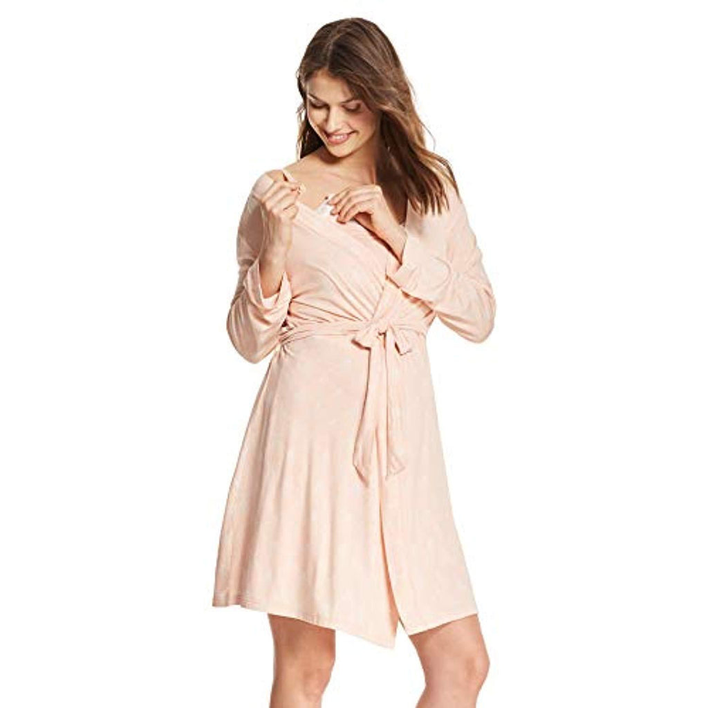 nursing nightgown and robe side