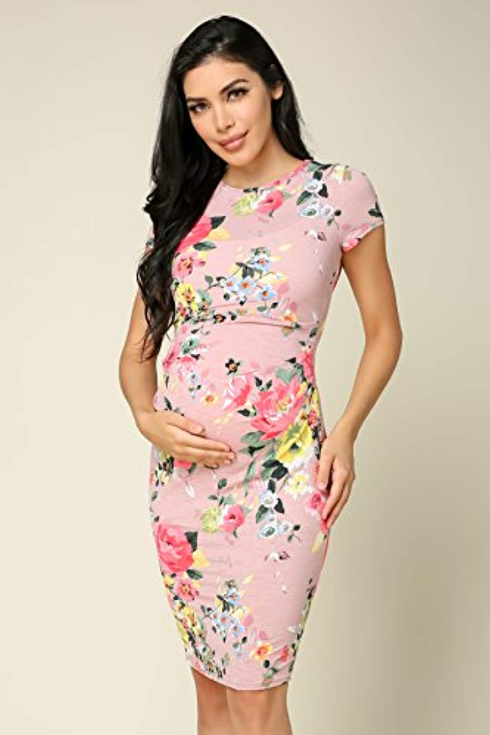 Pink Baby Shower Dress Front