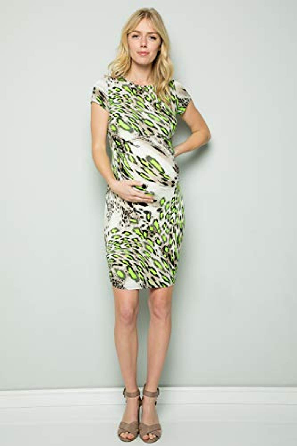 Animal Print Maternity Bodycon Dress - Mommylicious