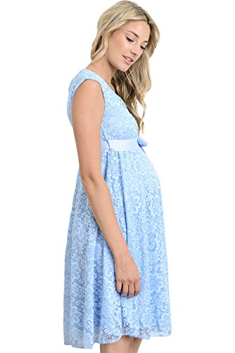 Floral Lace Baby Shower Dress