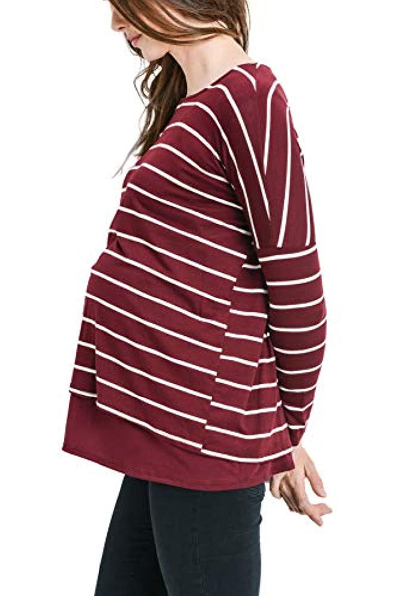 Striped Maternity and Nursing Tunic - Mommylicious