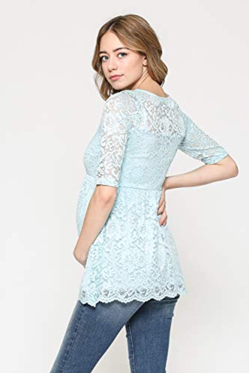 Lace Maternity Blouse Top - Mommylicious