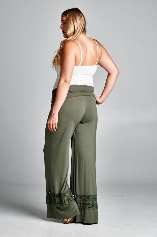 V.I.Peace Plus Maternity Palazzo Pants - Mommylicious