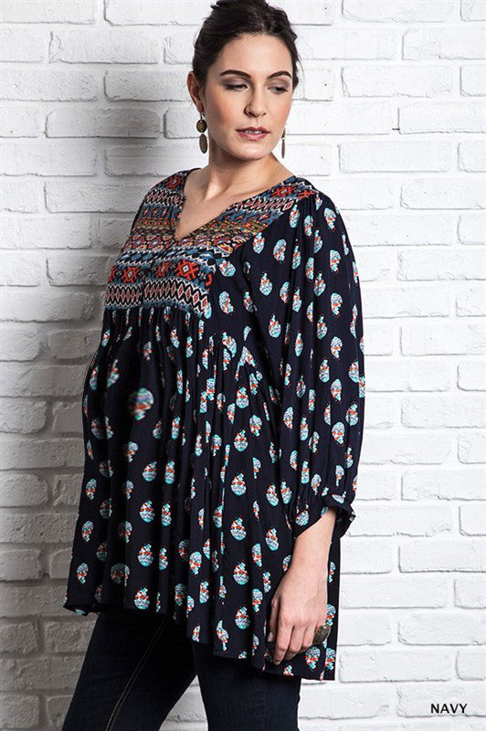 Patterned Maternity Tunic - Mommylicious