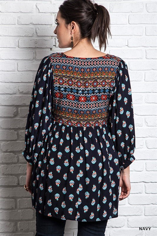 Patterned Maternity Tunic