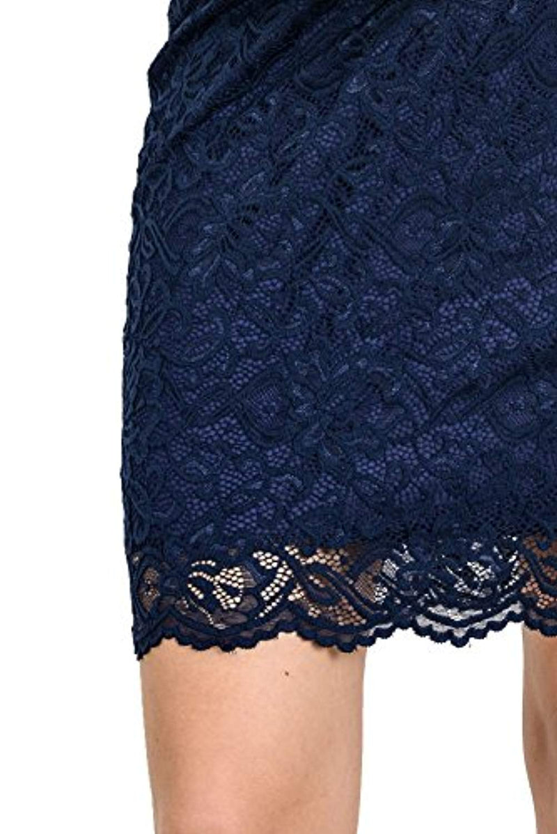 Floral Lace Knee Length Baby Shower Dress - Mommylicious