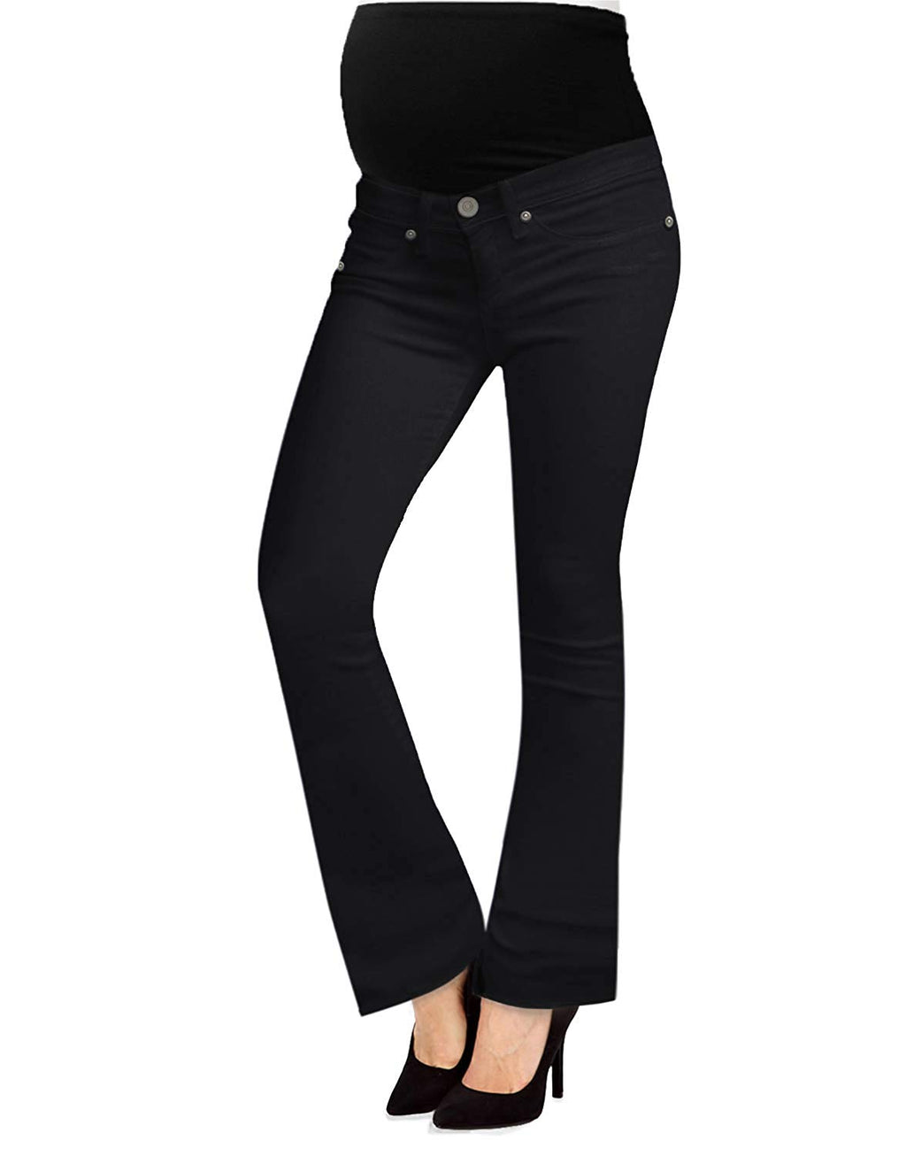 Black Stretch Bootcut Maternity Jeans - Mommylicious