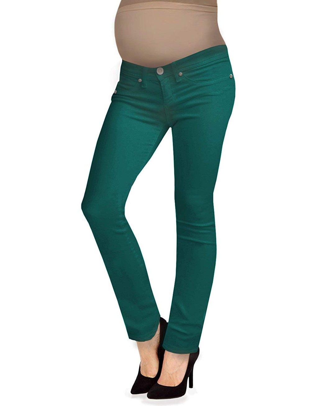 jade green bootcut maternity jeans