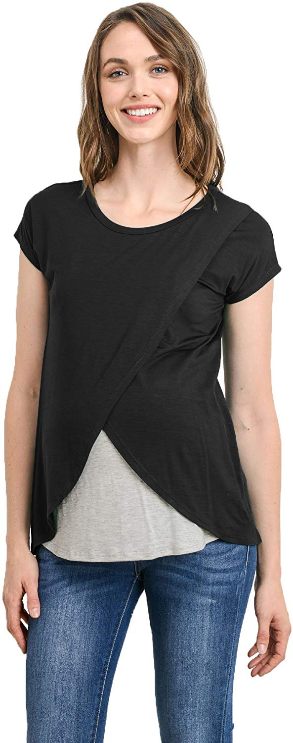 Contrast Overlay Maternity & Nursing Top