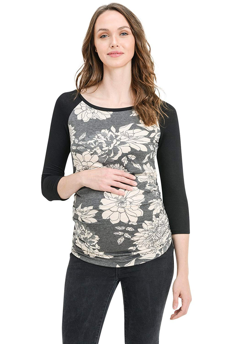 Raglan Sleeve Maternity T-Shirt Top