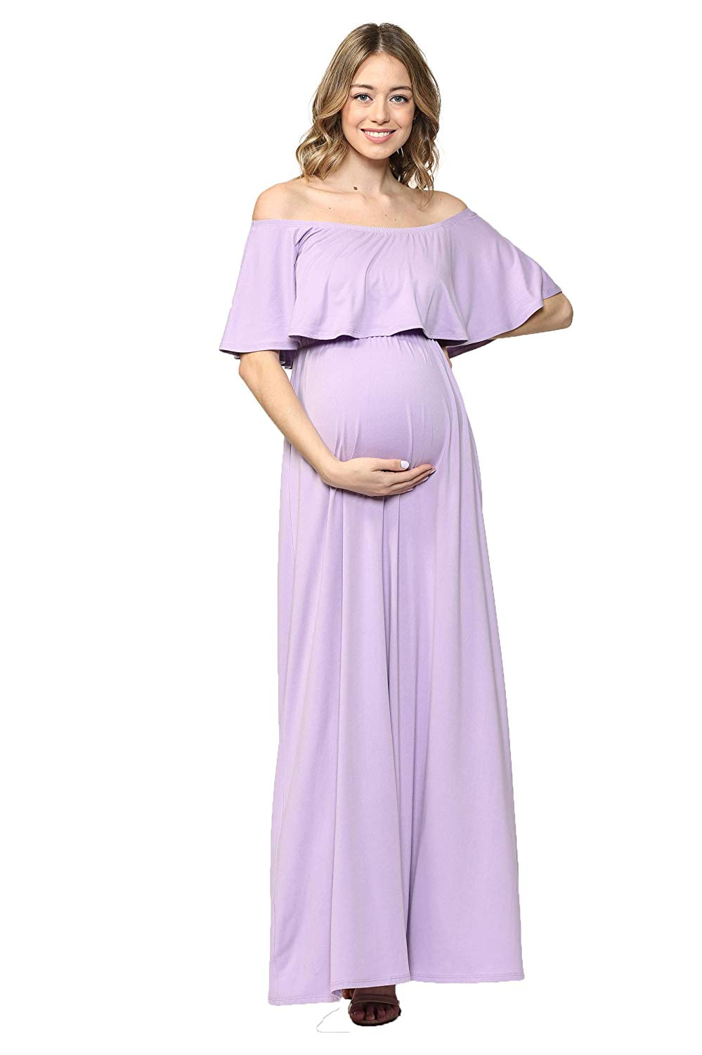 Lavender Maternity Sundress