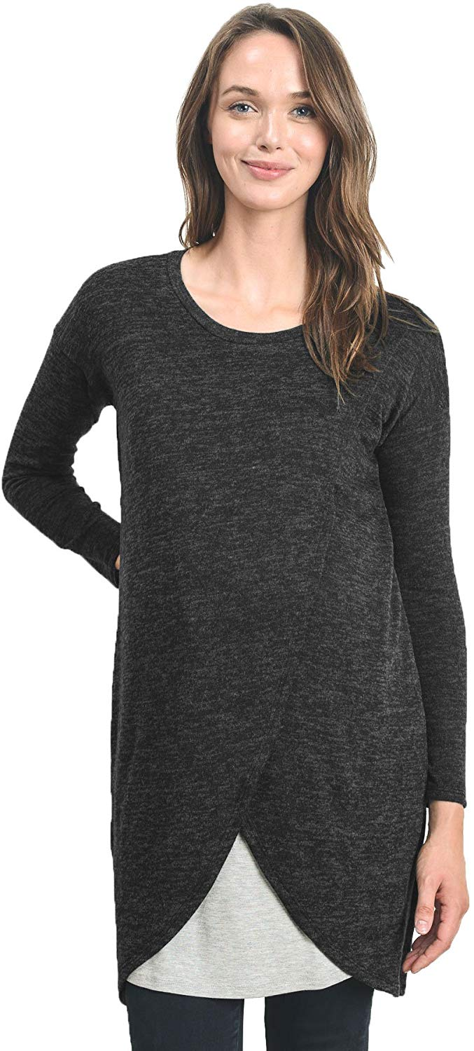 overlay maternity top
