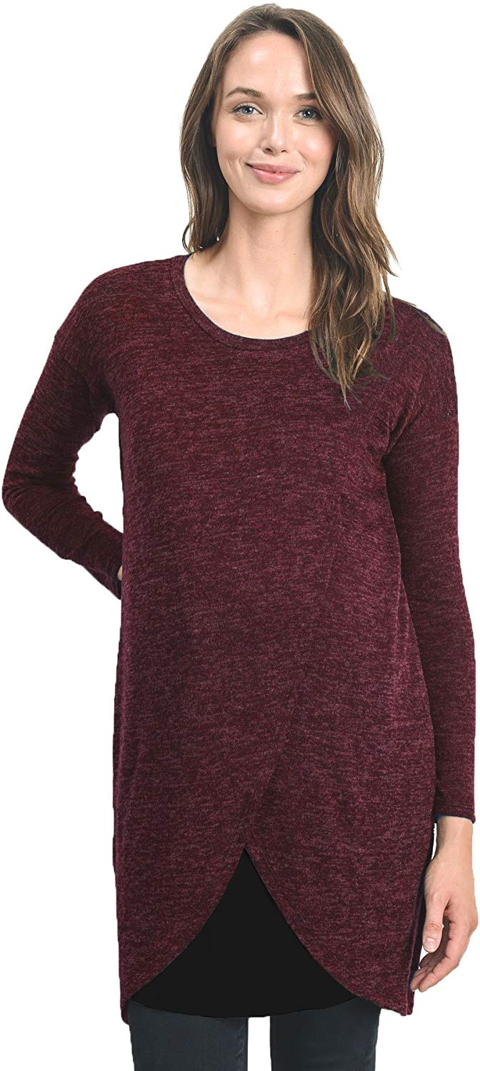 wine red maternity top