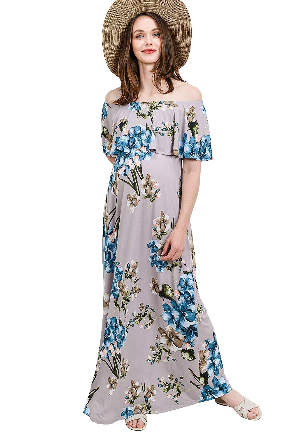 Floral Strapless Maternity Sundress