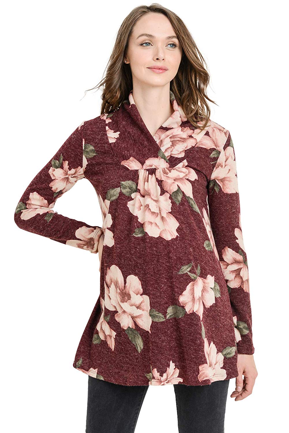 Floral Knit Maternity Tunic