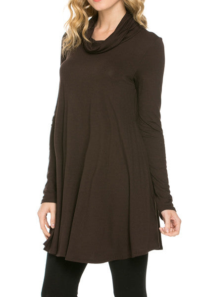 brown maternity tunic