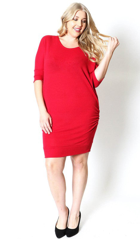 3/4 Sleeve Everyday Plus Maternity Dress - Mommylicious