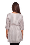 Surplice V Striped Tunic - Mommylicious