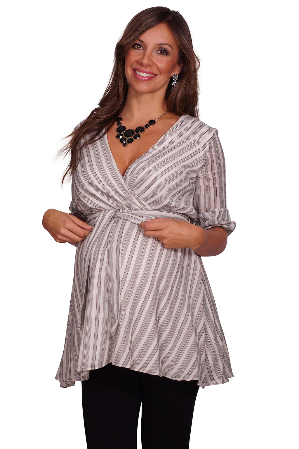 Surplice V Striped Tunic