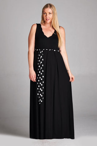 black plus size maternity dress