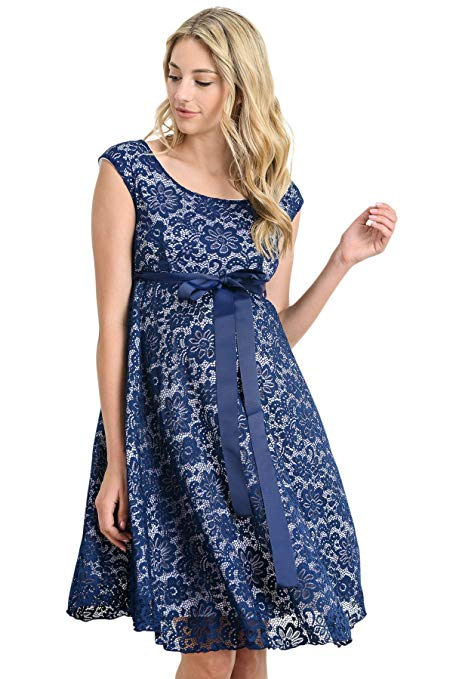 blue baby shower dress