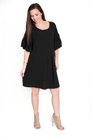 Black Bubbly Babe Maternity Tunic Dress