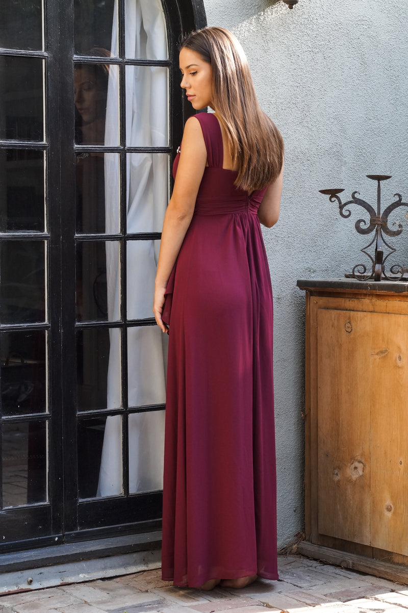 Burgundy Formal Dress