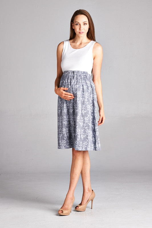 Skirt Maternity Dress - Mommylicious