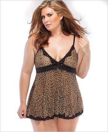 Pure Purr-Fection Plus Size Maternity Lingerie - Mommylicious