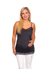 Lace Plus Maternity Tank Top