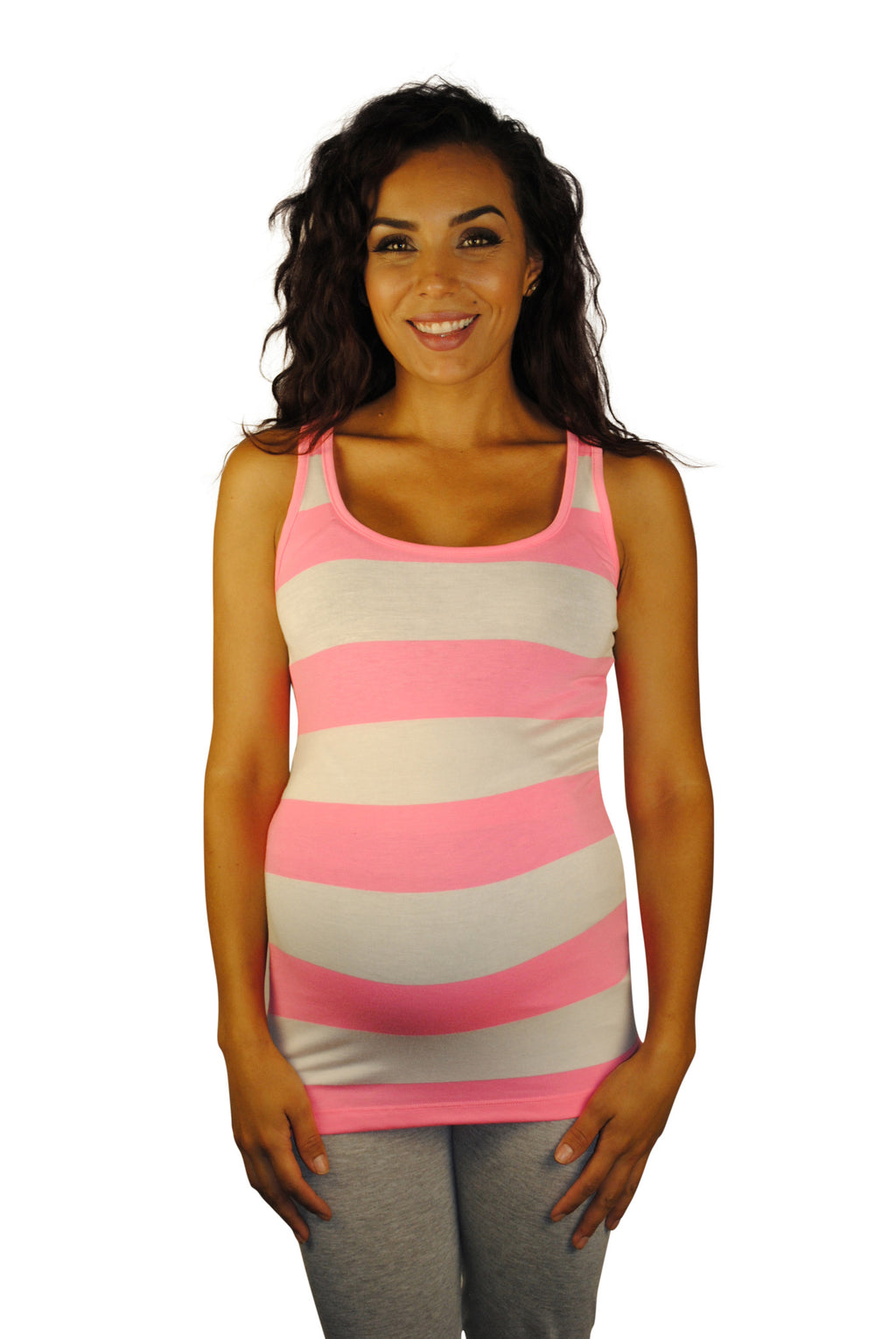 Neon Pink Maternity Tank Tops