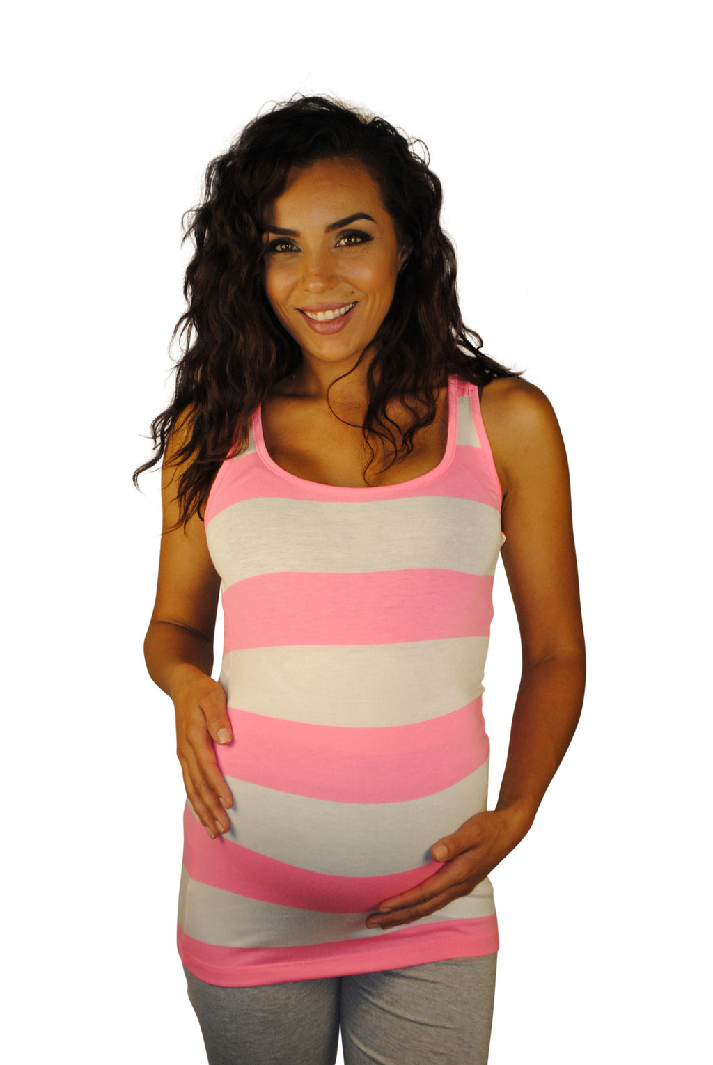 Striped Maternity Tank Tops - So Sienna - Mommylicious