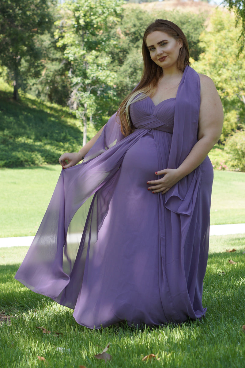 Strapless Maternity Gown - Mommylicious