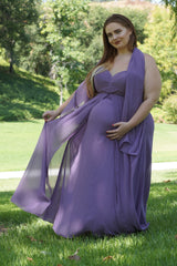 Strapless Maternity Gown