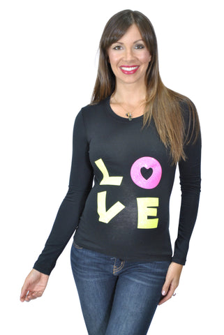 Maternity T Shirts-Neon Love