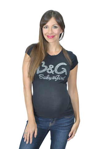 slogan maternity tops