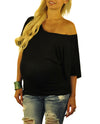 Black Maternity Tops