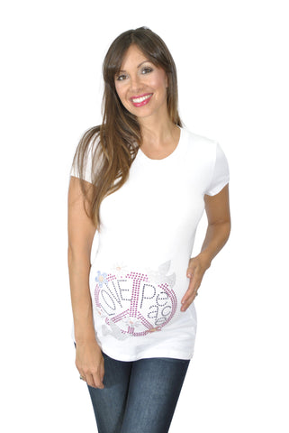 White Funny Pregnancy Shirts