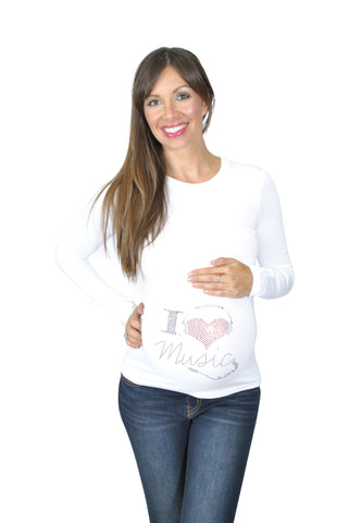 white Hip Maternity Top