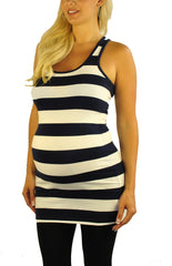 Stripped Maternity Tank Top