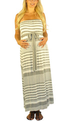 Striped Maternity Dress - Simplicity On A Saturday