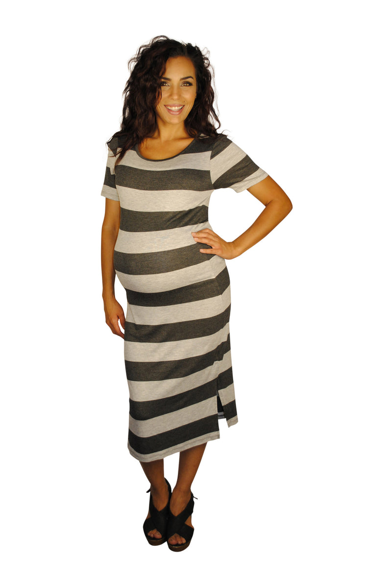 Striped Maternity Dresses - Weekday Getaway