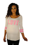 Sporting Love White Maternity Top - Mommylicious