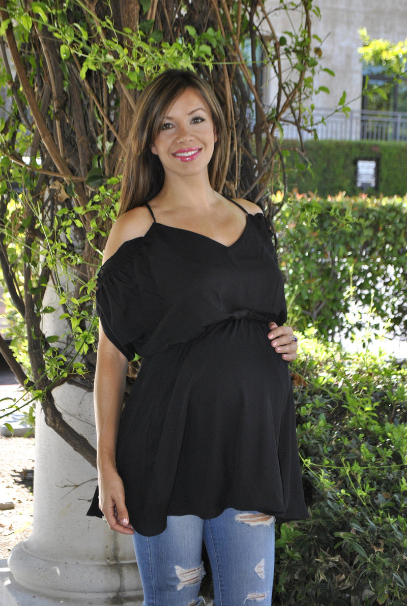 Strappy-Back Maternity Tunic