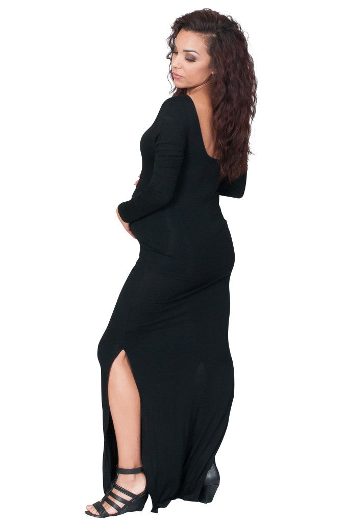 Black Long Maternity Dress